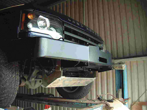 winch bumper properly installed on Discovery Series II