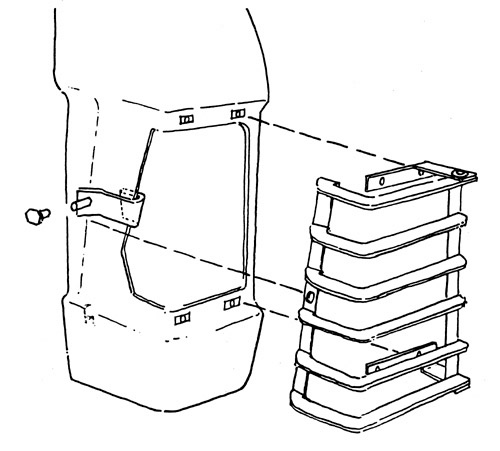 range rover classic front lamp guard fitting diagram