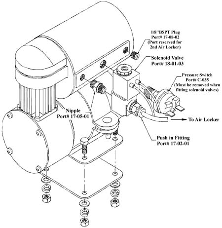 Arb Compressor Air Locker Product Instructions