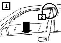 Discovery Side Window Air Deflector Installation Instructions step 1
