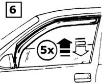Discovery Side Window Air Deflector Installation Instructions step 6
