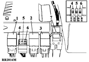 relay fuse diagram for Range Rover Classic