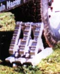 ChockTraks positioned for winching