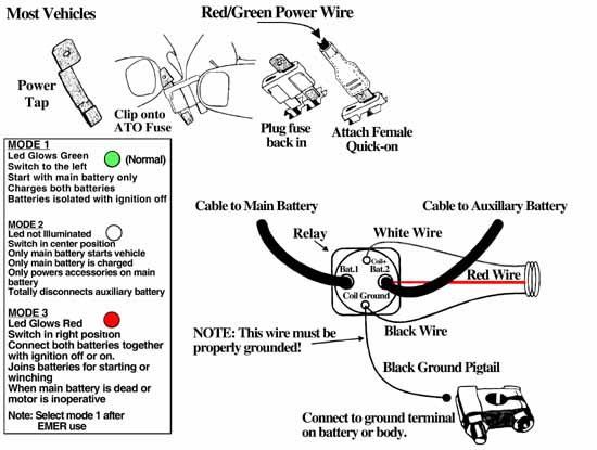 Dual Battery Isolator Kit Installation Instructions With