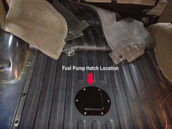 Discovery Series II Fuel Pump Access Hatch Location