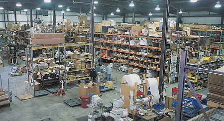 Atlantic British warehouse - overhead shot