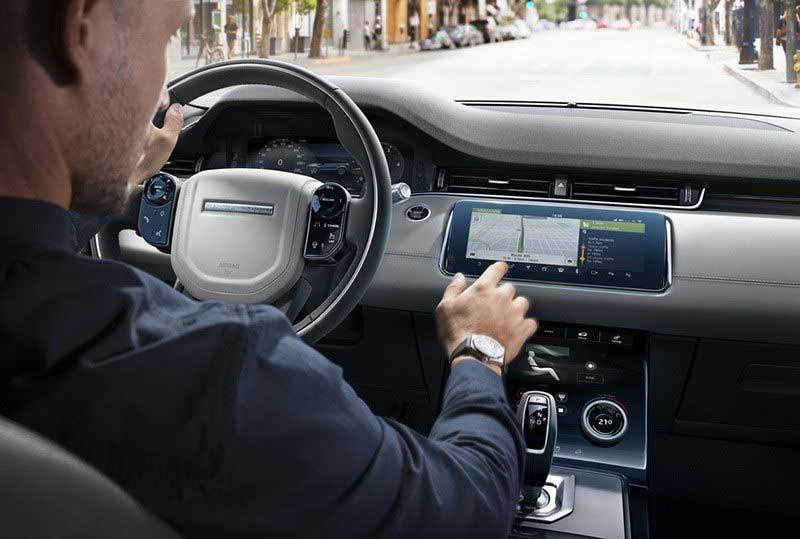 2020 Land Rover Evoque Infotainment panel