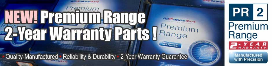 Premium Range warranty on car parts