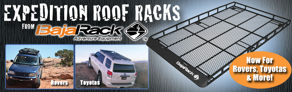 BajaRack Roof Racks and Accessories for Land Rover, Toyota and Mercedes