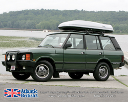 Land Rover at boat launch