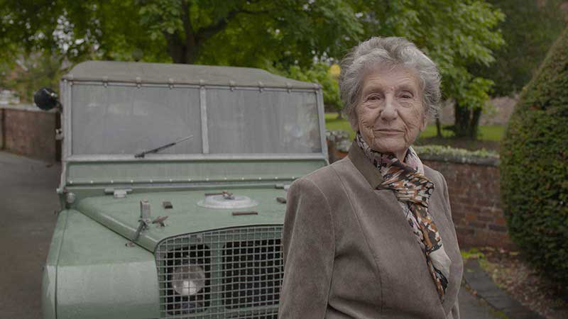 Dorothy Peters With Her Series Land Rover