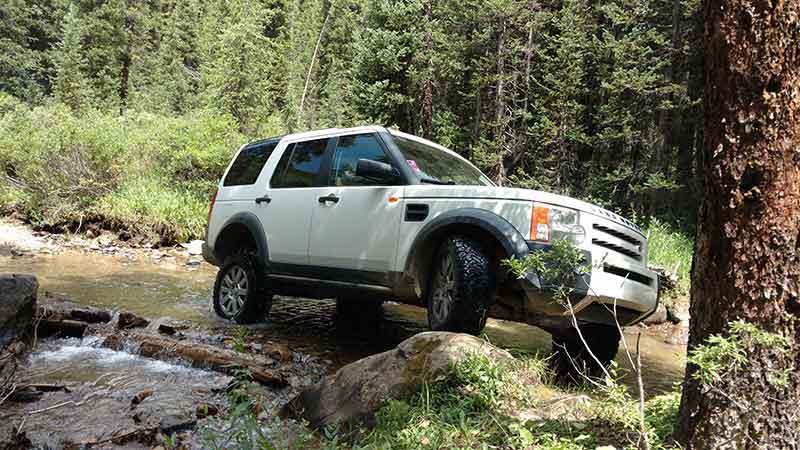 LR3 in creek