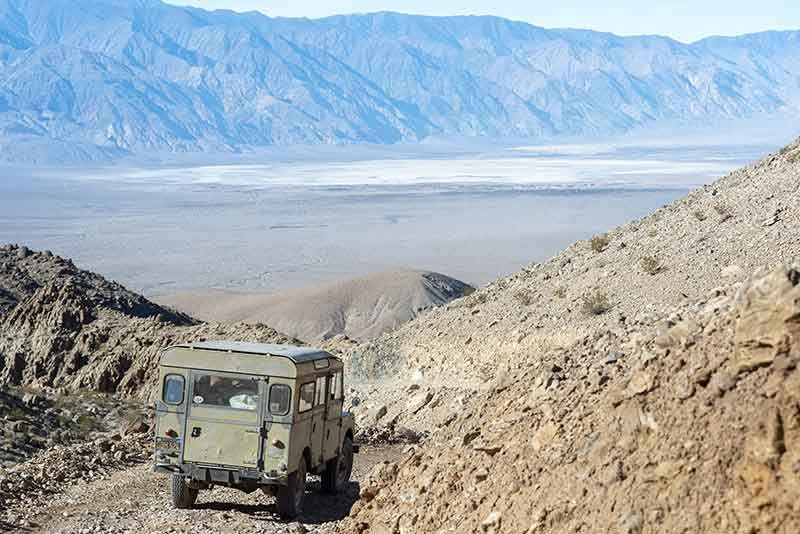 Land Rover Series on the trail to Saline Valley