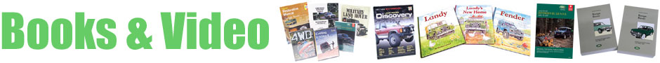 Books and Videos: Variety of covers of Land Rover books, manuals and videos