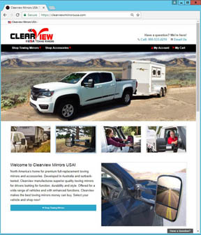 Clearview Mirrors USA Website