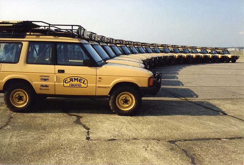 1990 Camel Trophy Discovery I Lineup