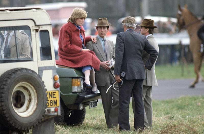 Princess Diana and Prince Charles with Land Rover