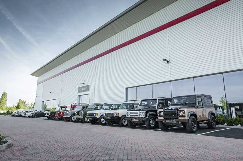 Land Rover Classic Works Factory In The UK