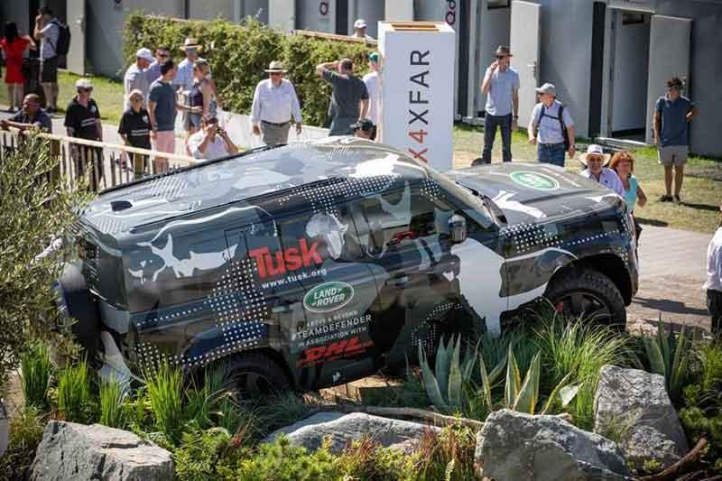 Land Rover Defender Display At Goodwood