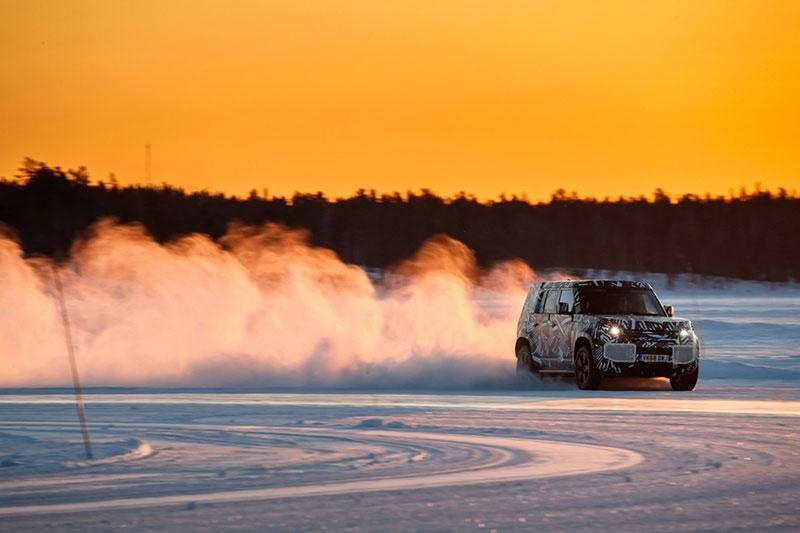 Land Rover Defender Test Mule In Sweden