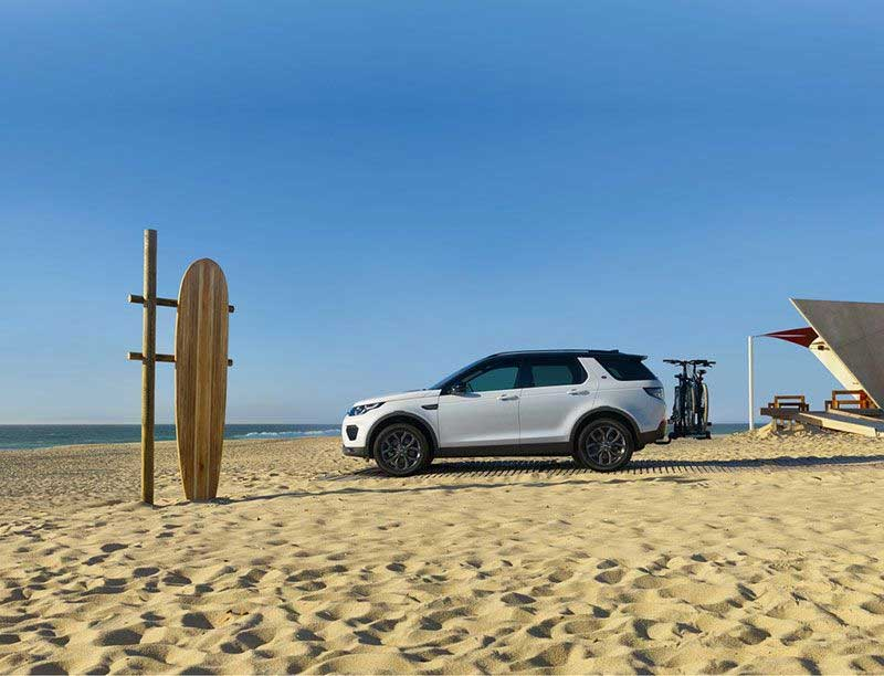 Land Rover On Demand Car Service At The Beach