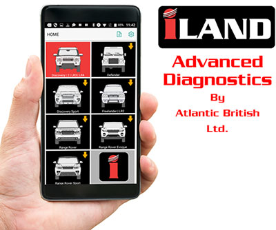 iLAND Wireless Bluetooth Diagnostic Tool For Land Rovers On Your