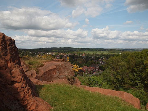 View of Kinver From The Holy Austin Rock Houses