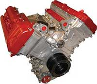 Land Rover rebuilt engine