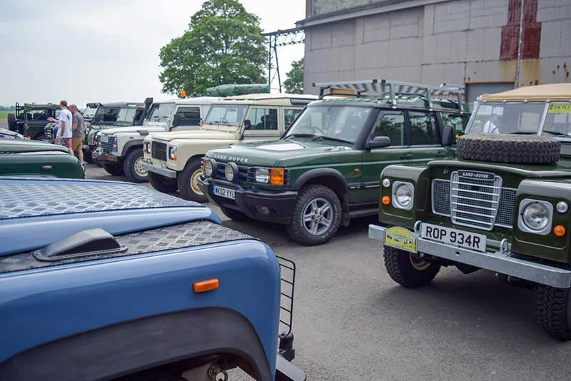 historic Land Rovers at 70th anniversary celebration