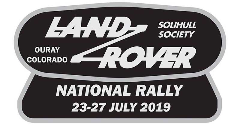 Land Rover National rally 2019 badge
