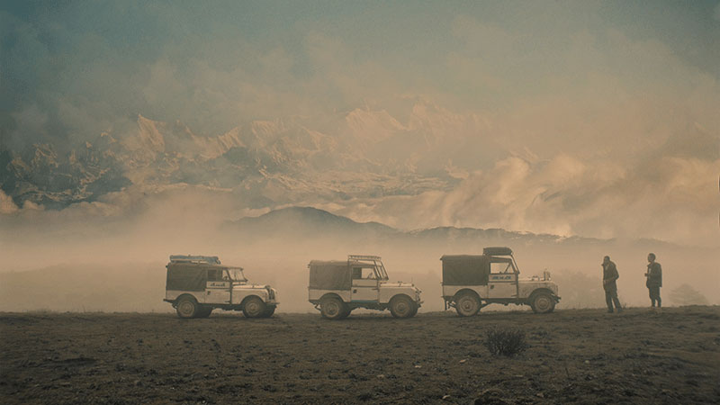 Land Rovers In The Himalayas