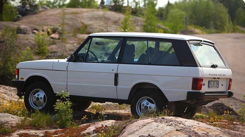 Rear Side Shot Of 2-Door Range Rover Classic