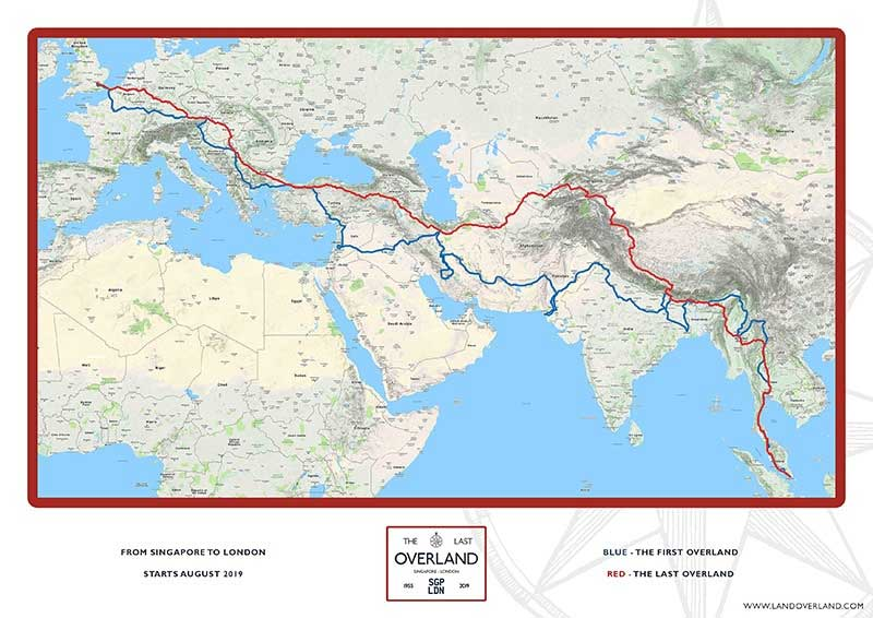 Last Overland Map With Trip Route