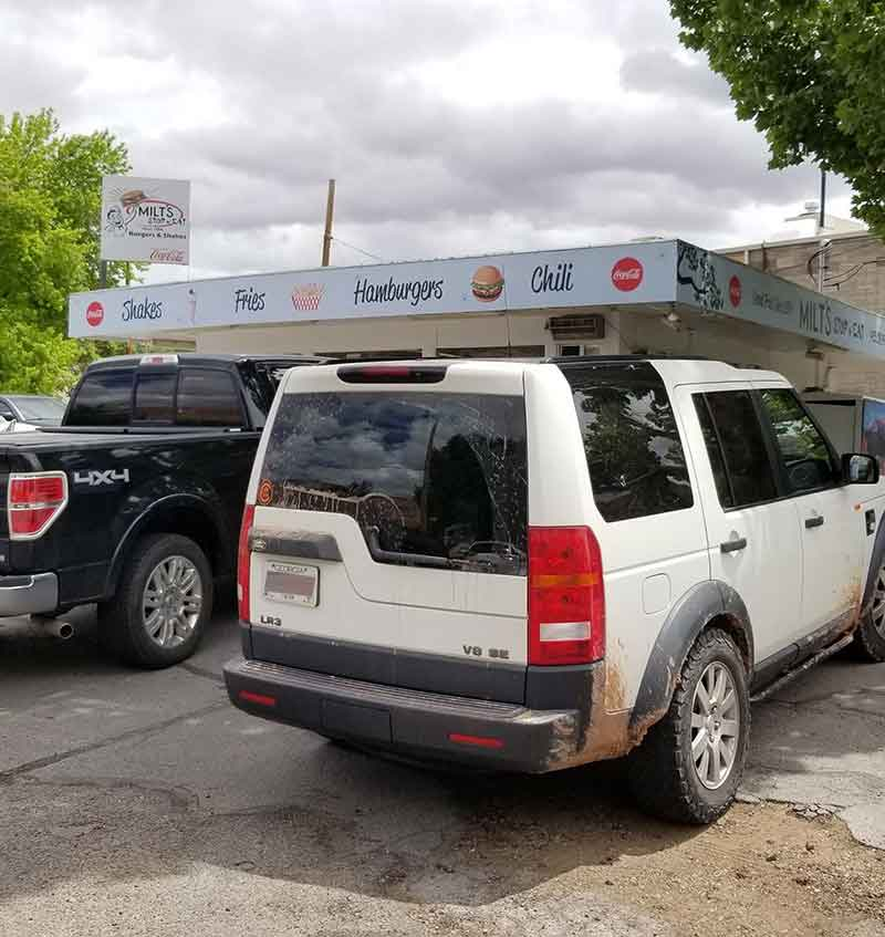 The LR3 At Milt's Stop In Moab