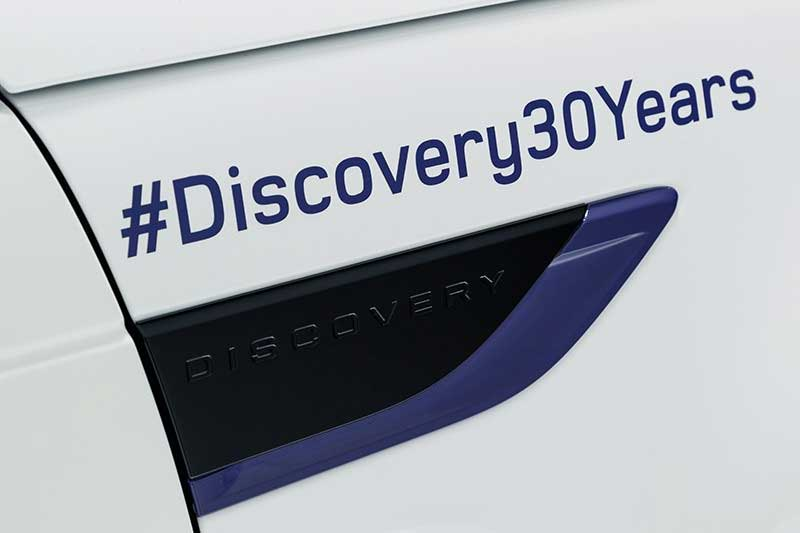 Discovery 30 Years hashtag decal