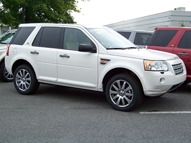 white LR2 L359 vehicle