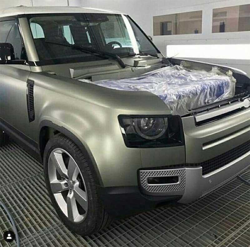 Lab Test Land Rover Defender Spy Shot