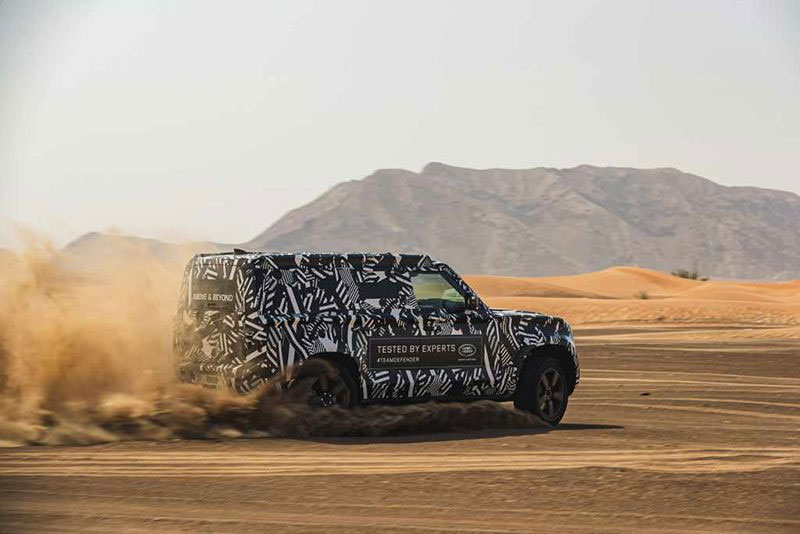 New Land Rover Defender Teaser Shot