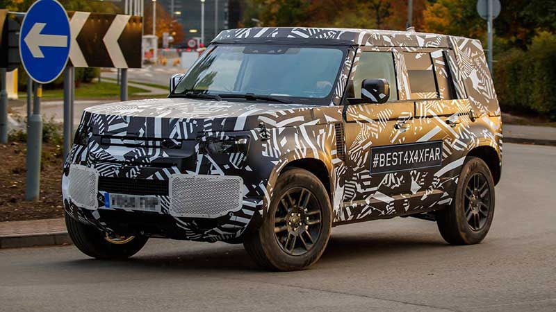 First test mule of Land Rover Defender