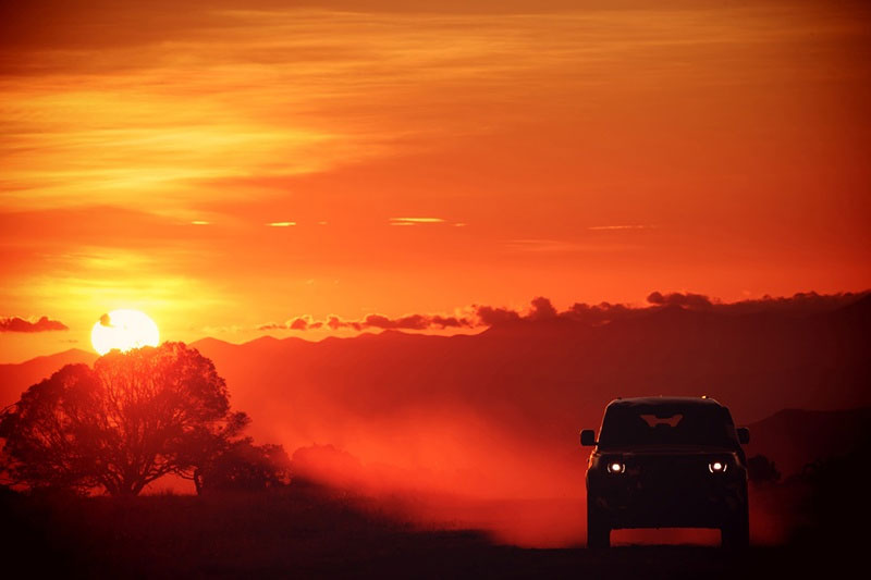 Sunset Shot For Tusk Land Rover Defender