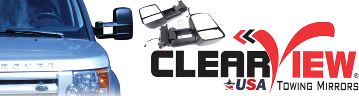 Clearview towing mirrors banner