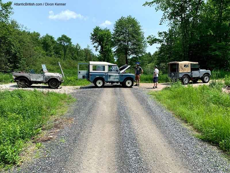 Land Rover Defenders And Series On A Trail At OVLR