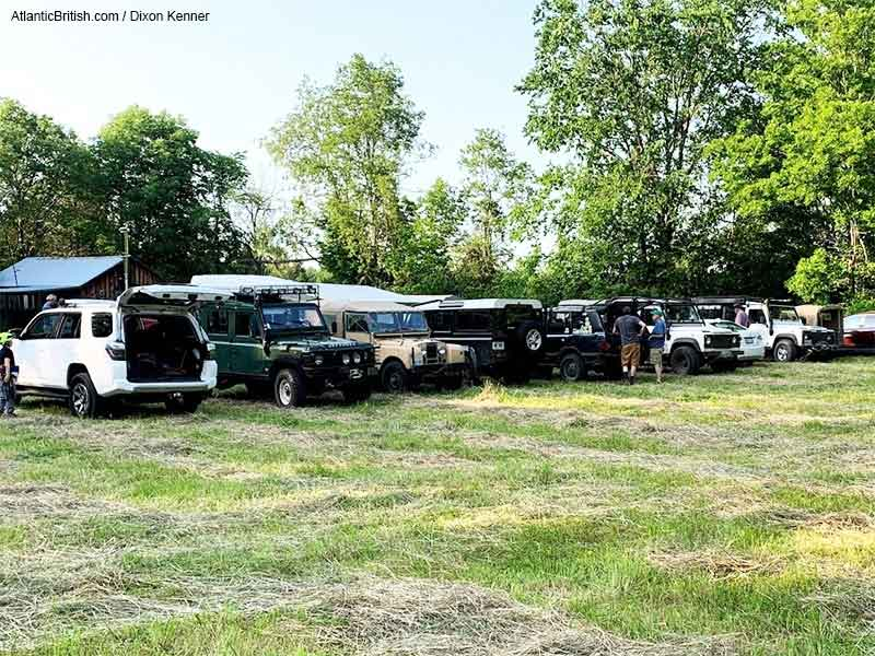 Land Rovers At The Camp In OVLR