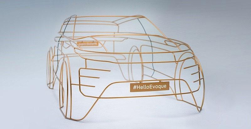 wire model for the 2019 Range Rover Evoque