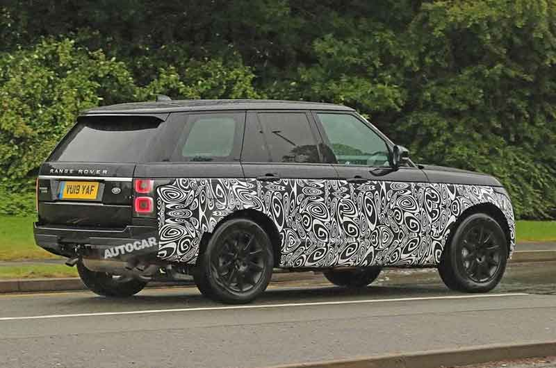Mark 5 Range Rover Mule Spy Shot
