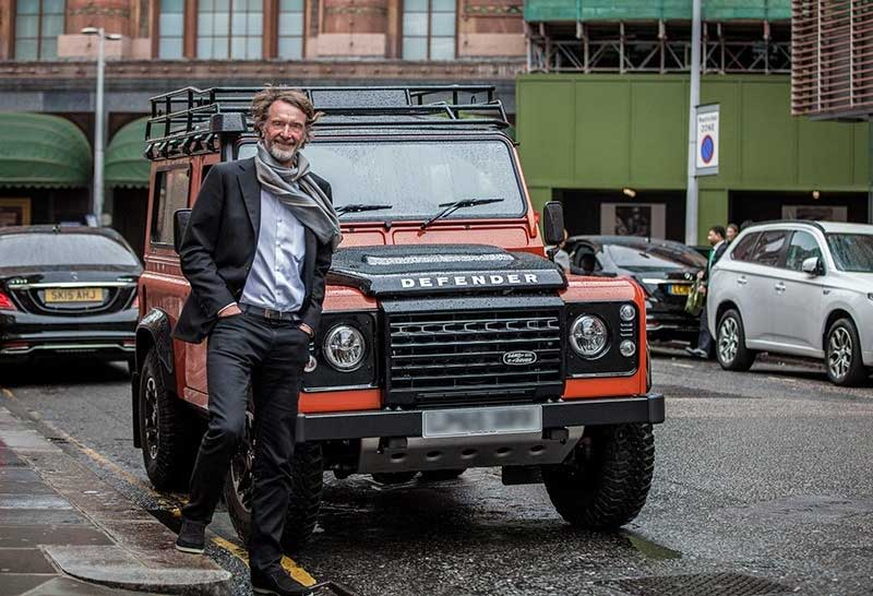 Ratcliffe With His Land Rover Defender