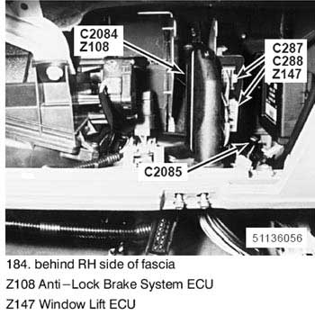 window lift ecu figure 1  land rover connector diagram