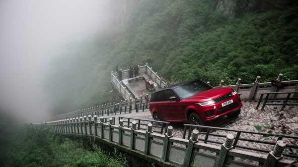 Range Rover Sport climb challenge