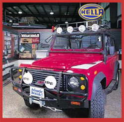 Land Rover accessories, off-road advice - it's all here at Atlantic British!