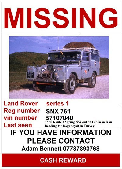 Missing Poster For SNX761 Land Rover Series I